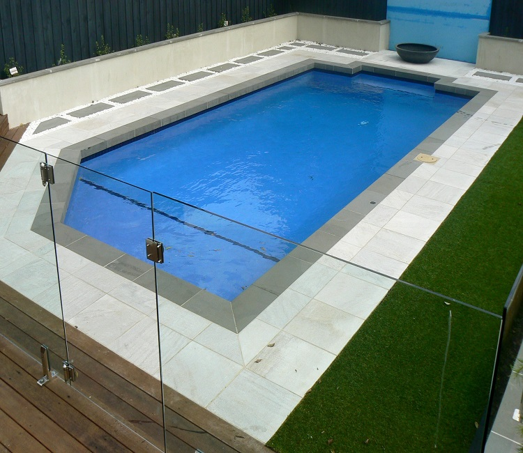 White Granite Pool Pavers