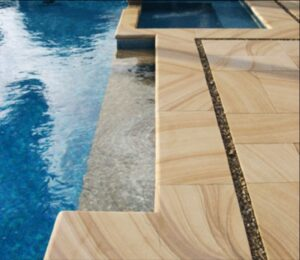 Teakwood Sandstone Pool Pavers