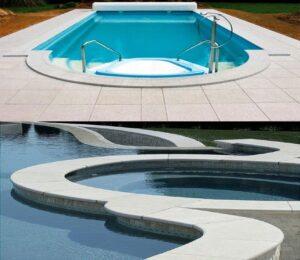 White Granite Pool Pavers