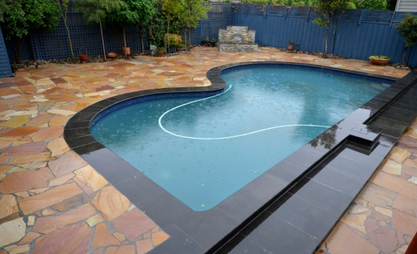 POOL PAVERS- non slip natural stone pavers and coping
