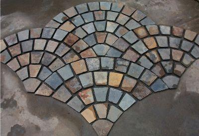 Fan Shaped Cobblestone Pavers 9 Natural Stone Pool