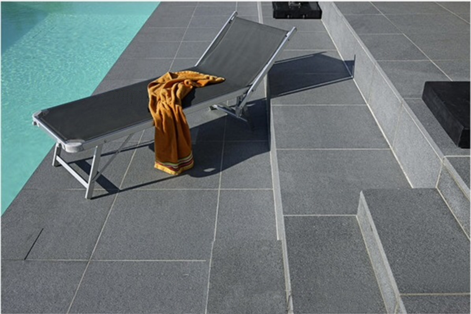 RAVEN GREY GRANITE POOL PAVERS