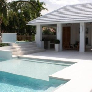 capri white limestone pool coping tile