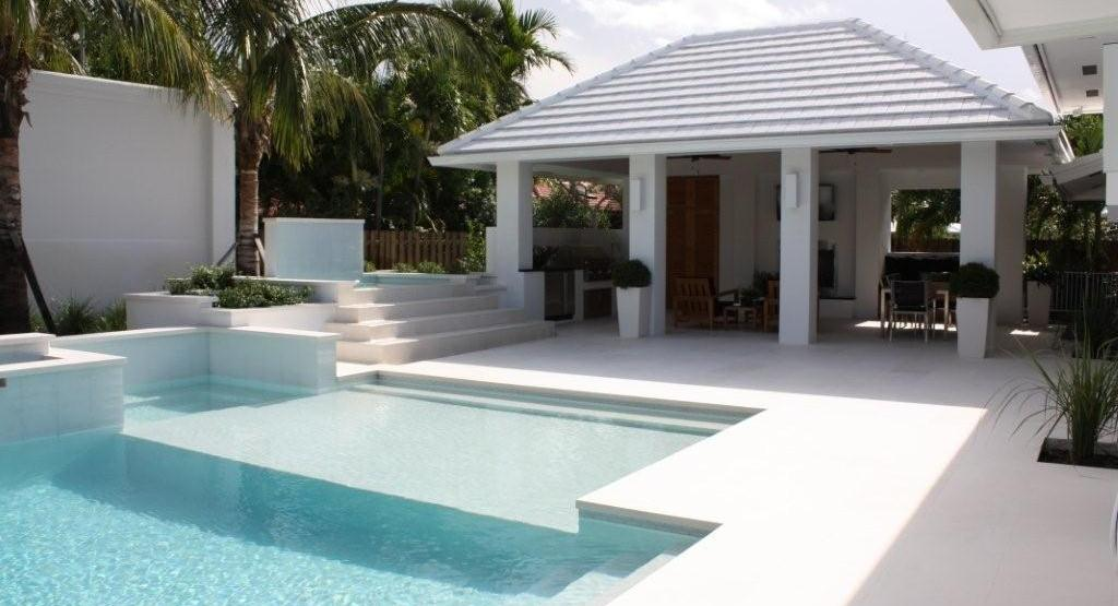 Capri White Limestone Pool Coping Tile Bullnose