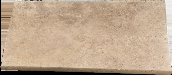 Noce Travertine Unfilled and Tumbled Pool Coping Tiles