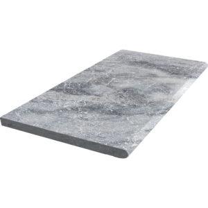 Pearl Grey Limestone Bullnose (2)